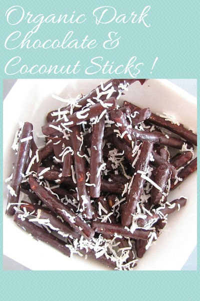 Organic Dark Chocolate and Coconut Sticks