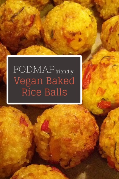 Vegan Baked Rice Balls Fodmap friendly recipe