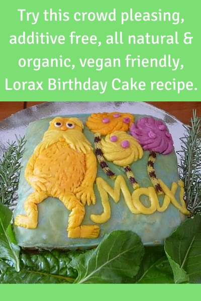 All Natural Vegan Kids Birthday Cake Recipe Living Safe
