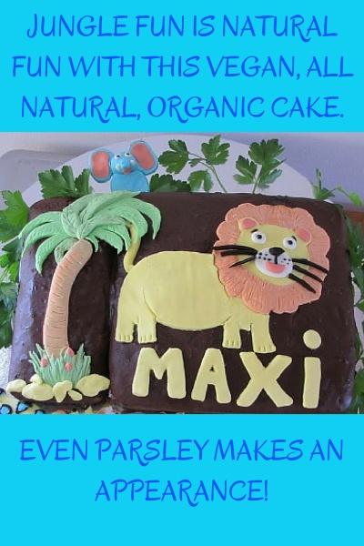 Vegan, All Natural Kids Jungle Lion Cake