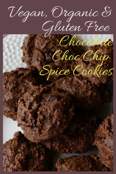 Organic, Vegan, Gluten-Free, Chocolate, Choc Chip Spice Cookies