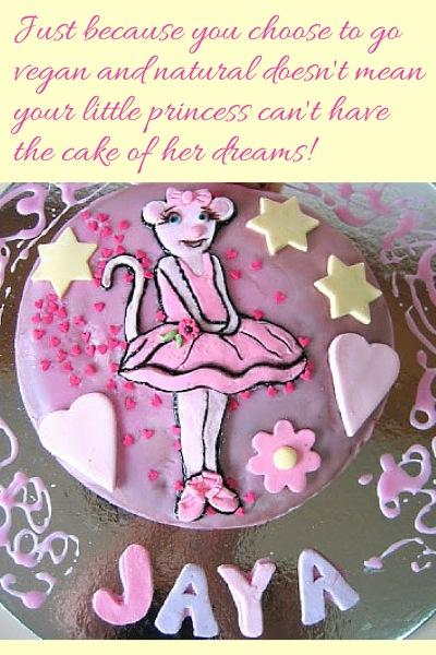 Vegan Natural Angelina Ballerina Cake