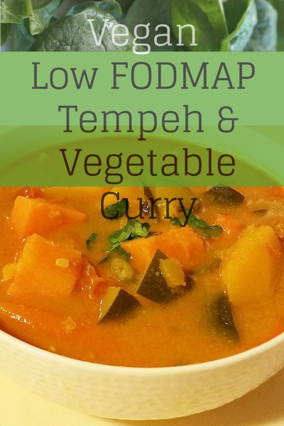 Vegan Low FODMAP Curry Recipe with Tempeh