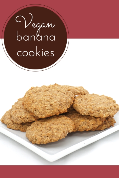 Vegan and Banana Cinnamon Breakfast Cookies.
