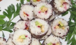 Vegan Sushi Roll Recipe Using Radiation Free Nori Flakes