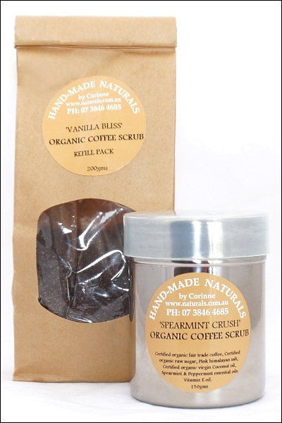 Spearmint Crush Organic Coffee Scrub by Handmade Naturals