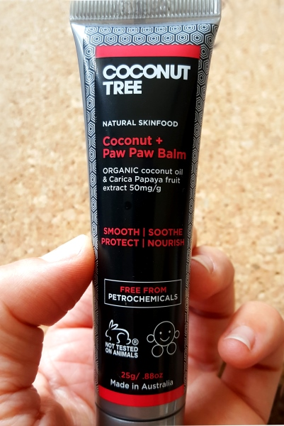 Soothe with Coconut Tree's Coconut plus Paw Paw Balm
