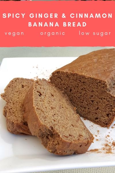 Spicy Vegan Ginger and Cinnamon Banana Bread Recipe