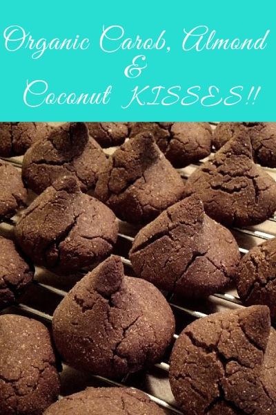Organic Vegan Carob, Almond and Coconut Kisses