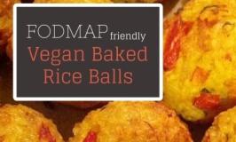 Vegan Baked Rice Balls Fodmap friendly recipe