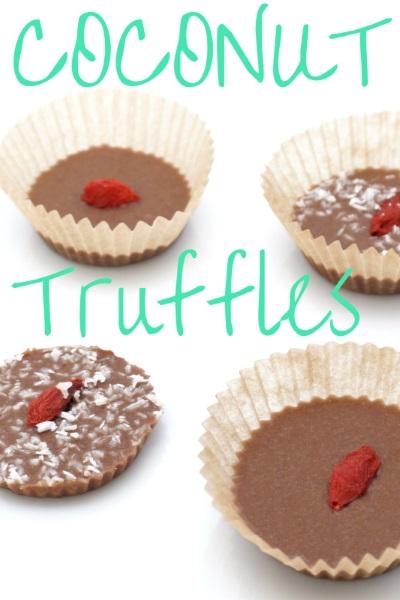 Raw Vegan Chocolate Nut and Coconut Truffles