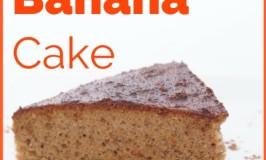 organic, vegan, spelt, banana and cinnamon cake