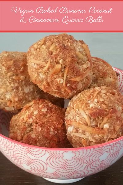 Vegan Quinoa Cinnamon and Coconut Baked Banana Ball Recipe