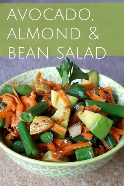 Organic Green Bean, Avocado, Carrot and Almond Salad