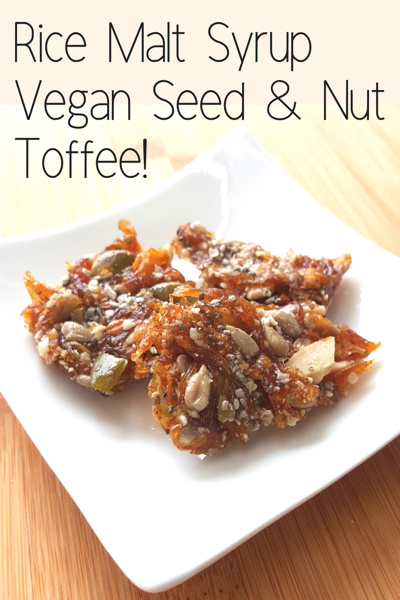 Low Sugar FODMAP friendly Vegan Rice Malt Toffee Recipe