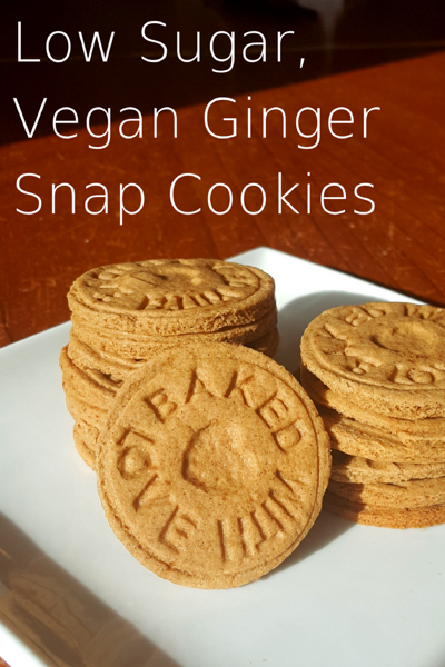 Healthy Vegan Low Sugar Ginger Cookies