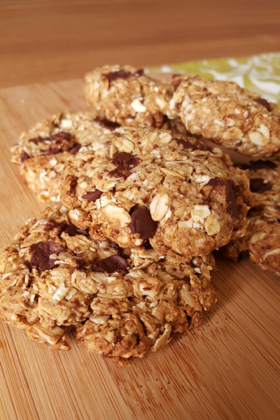 Low Fodmap Low Sugar Vegan Choc Chip Cookies